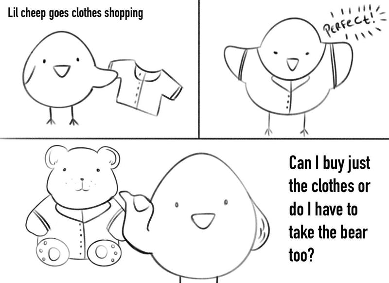 """Clothes shopping is no """"small"""" task for Lil Cheep."""