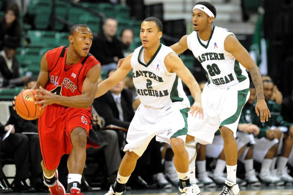 EMU men's basketball team falls to Ball State, 60-51