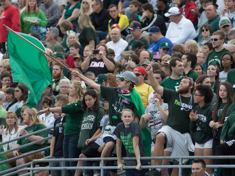 Eastern Michigan students filed in to watch the Eagles take on Army on Sept. 26 2015 in Ypsilanti, Mich.