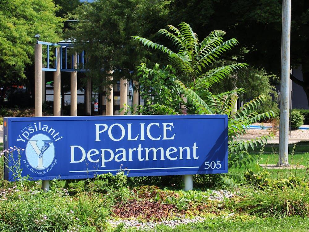 Ypsilanti Police Sign