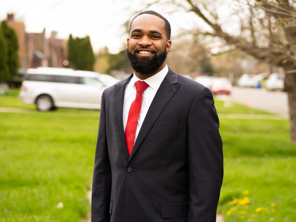 Daivon Reeder's campaign headshot taken in his hometown of District 4, the Eastside of Detroit. (Photo courtesy of photographer Phillip Todd)