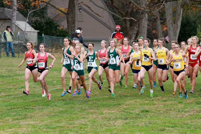 The cross country team races in in Canton, Ohio on Saturday, Oct. 31.