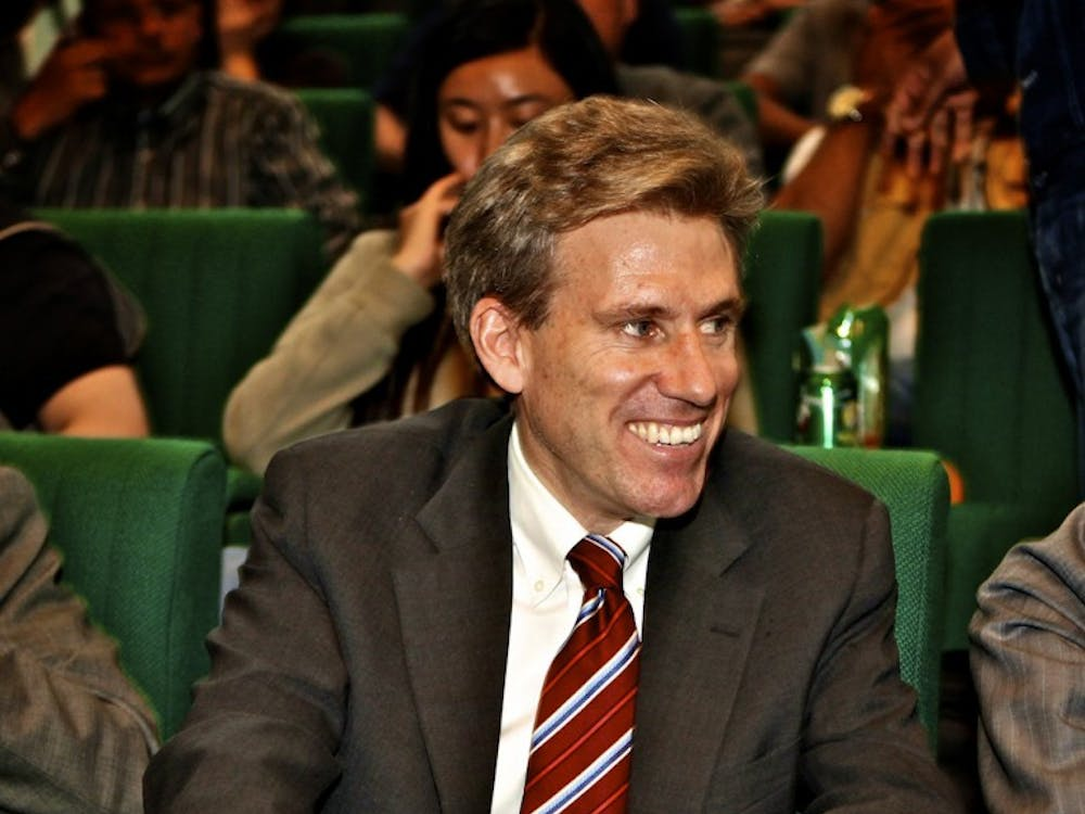 In this April 11, 2011, file photograph, U.S. envoy Chris Stevens waits at a press conference in Benghazi, Libya. Stevens, was killed along with three of his staff members in an attack on the U.S. Consulate in Benghazi late September 11, 2012,  by an armed mob angry over a short American-made video mocking Islam's founding prophet, White House and Libyan officials said Wednesday. (Cai Yang/Xinhua/Zuma Press/MCT)