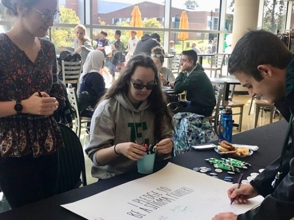 On Oct. 10, EMU's Active Minds held a Stigma Sucks event at the Student Center. Photo Courtesy of EMU Active Minds
