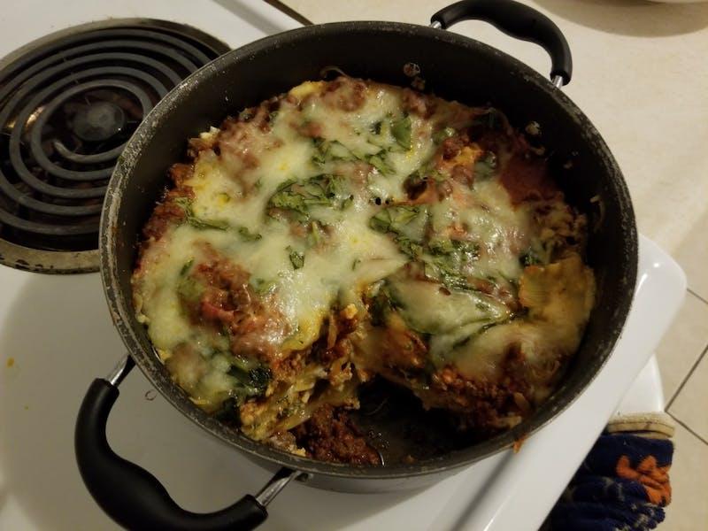 Spinach Alfredo Lasagna