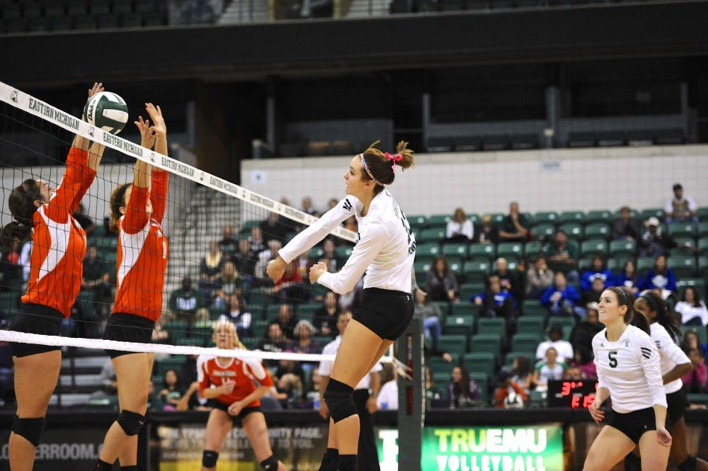 EMU volleyball loses to BG, preps for 4-game road trip