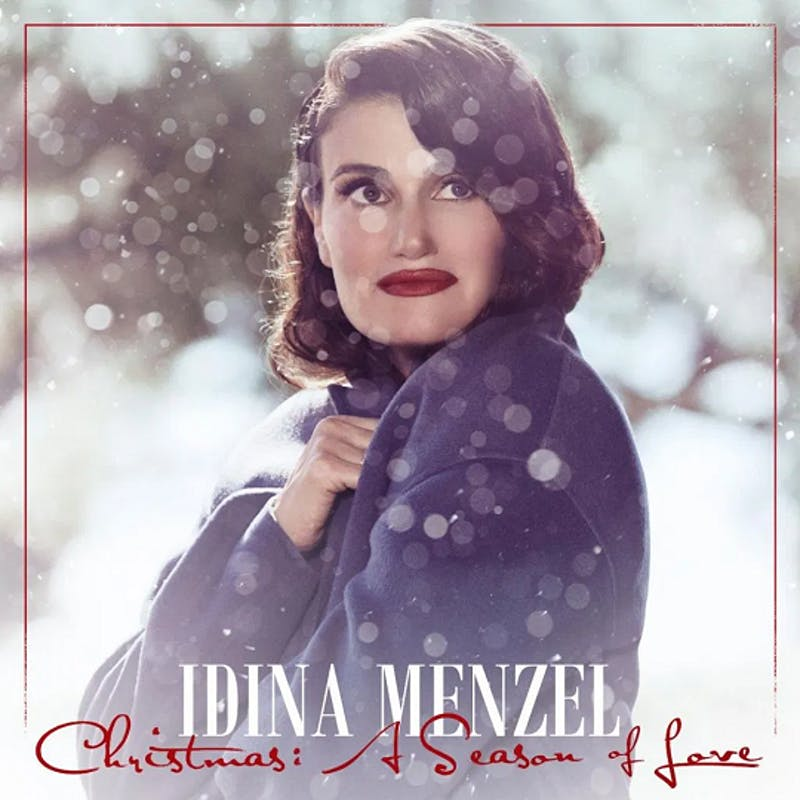 "The cover for Idina Menzel's Christmas album, ""Christmas: A Season of Love""."
