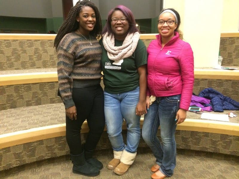 From left, Morgan Randall, Tanasia Moore and Dalzchane Baker.