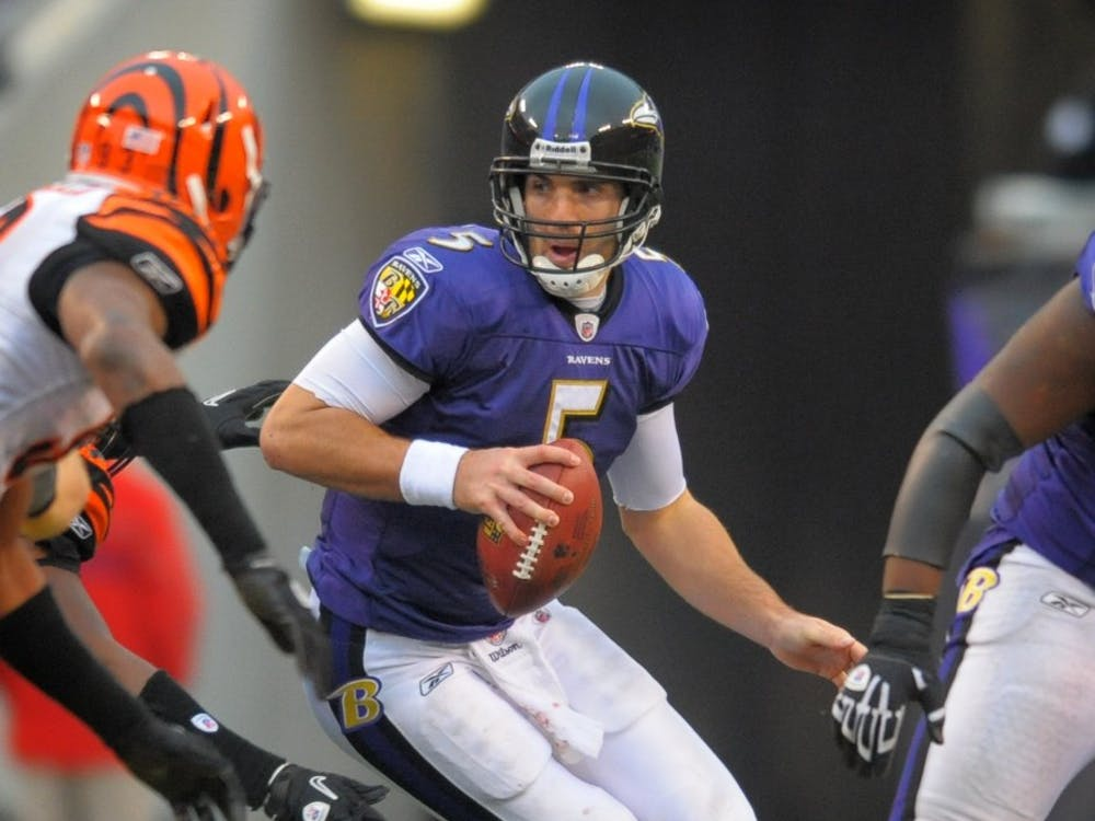 Ravens quarterback Joe Flacco during Sunday's game. The Ravens play the Chiefs this Sunday.