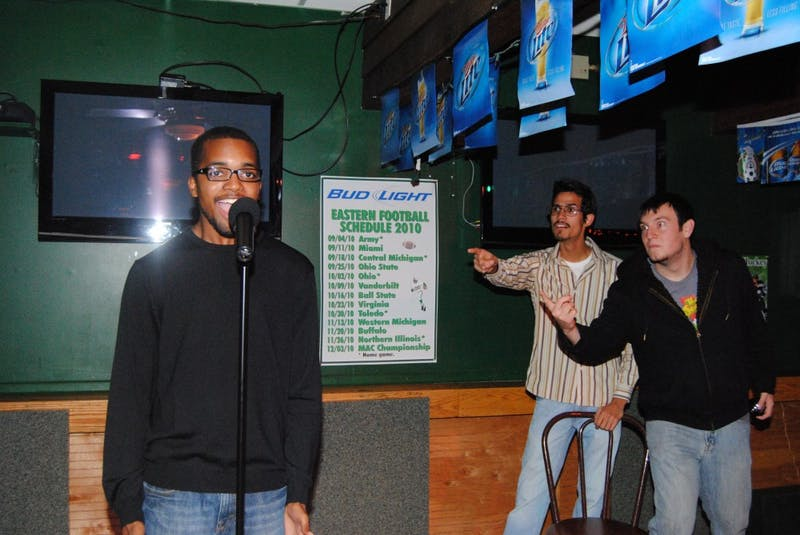 Darnell Anderson(black Shirt) James Quesada (white shirt) Alex Marr (Black Hoodie