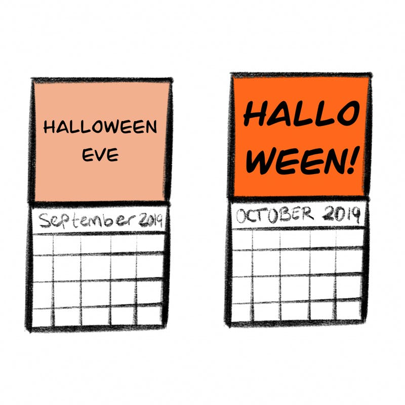 We all know what September's true importance is... It means Halloween is next!