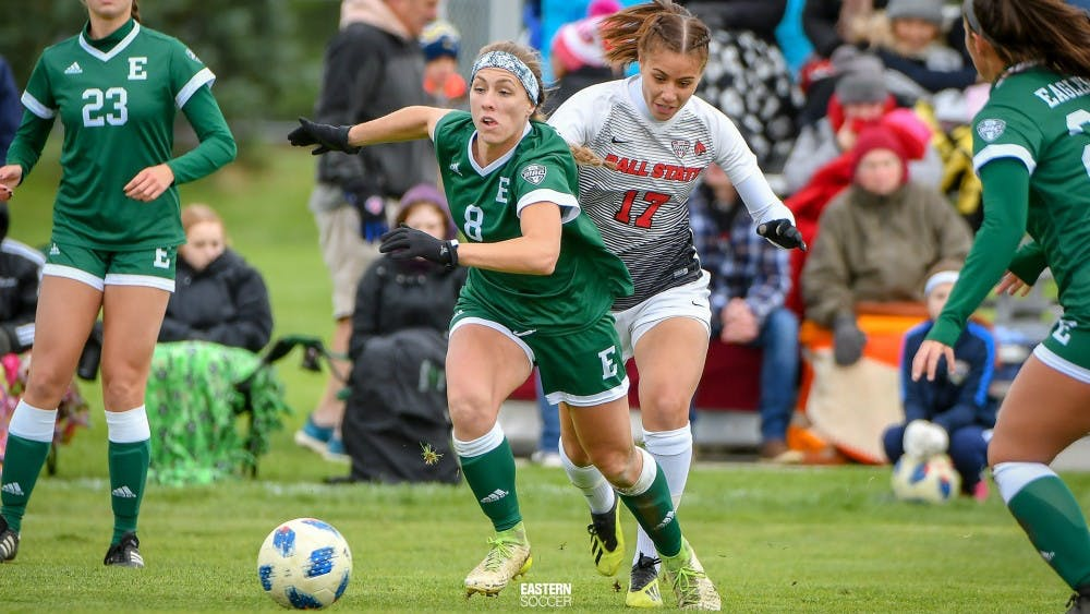 EMU Soccer wins one, loses one, heading into final game of season