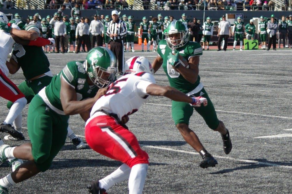 Eastern Michigan becomes bowl eligible with 45-17 win over Northern Illinois