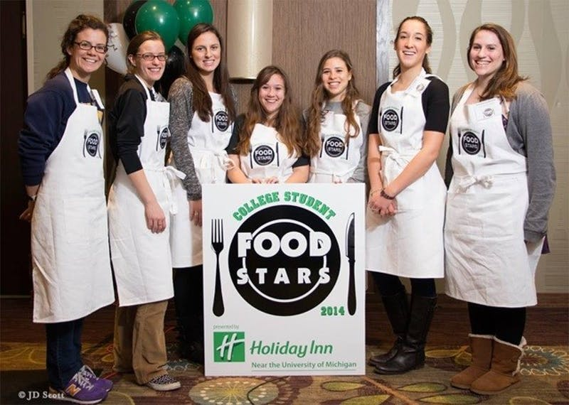 Photo provided by The Holiday Inn Ann Arbor, the 8 finalists of the College Student Food Stars competition