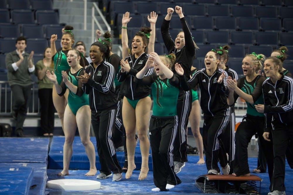 EMU gymnastics continues to roll; breaks program record again