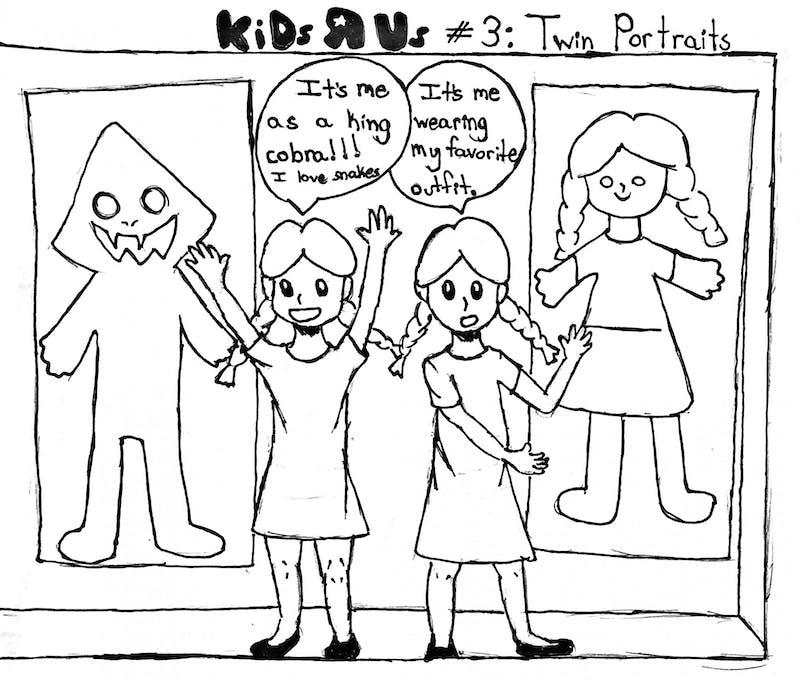 Kids are weird but twin kids are WEIRDER.