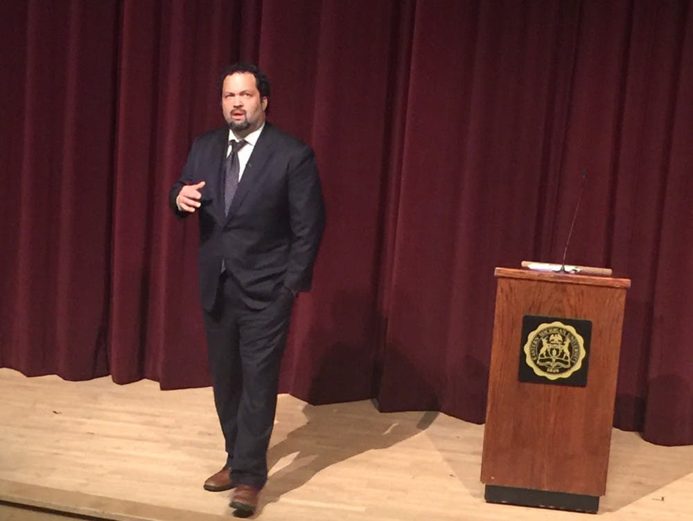 Benjamin Jealous speaks at EMU
