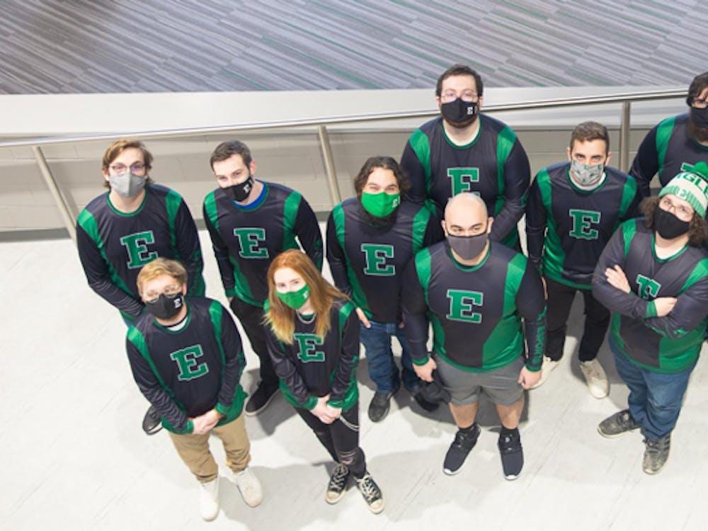 Eastern Michigan University's esports team. (Photo courtesy of Eastern Michigan University)