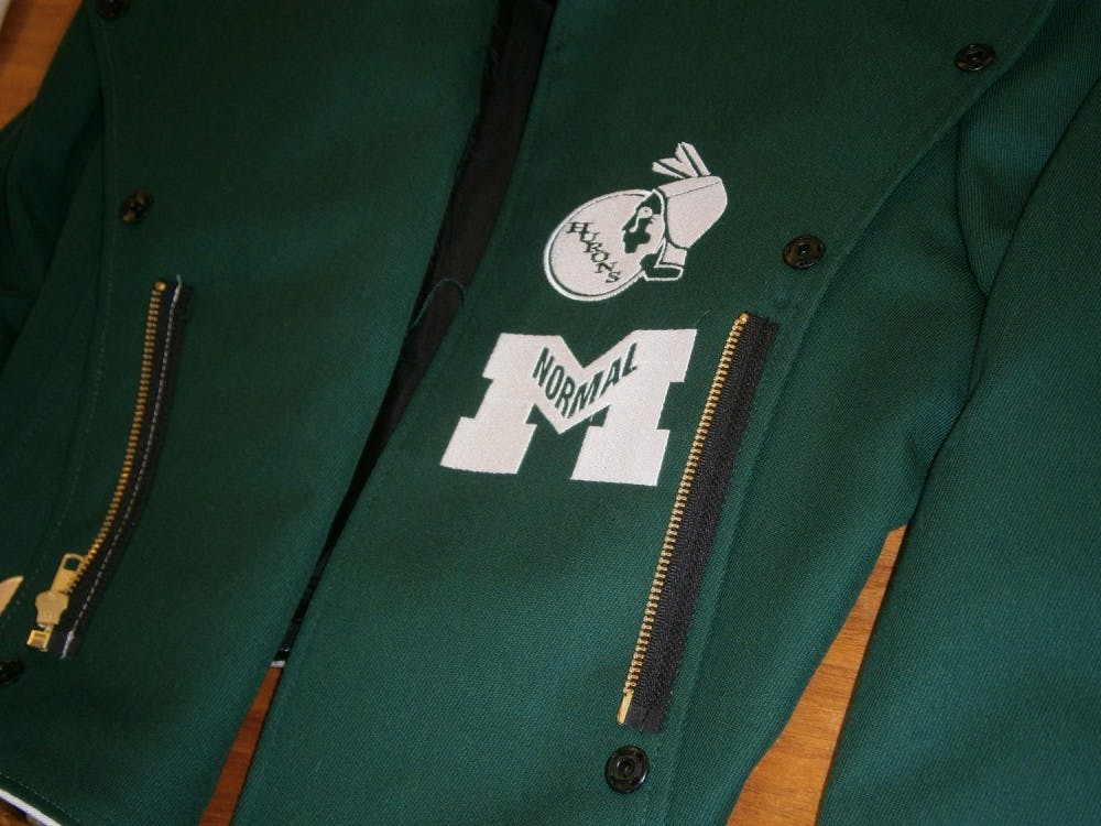EMU's former Huron logo on the new Marching Band uniforms.