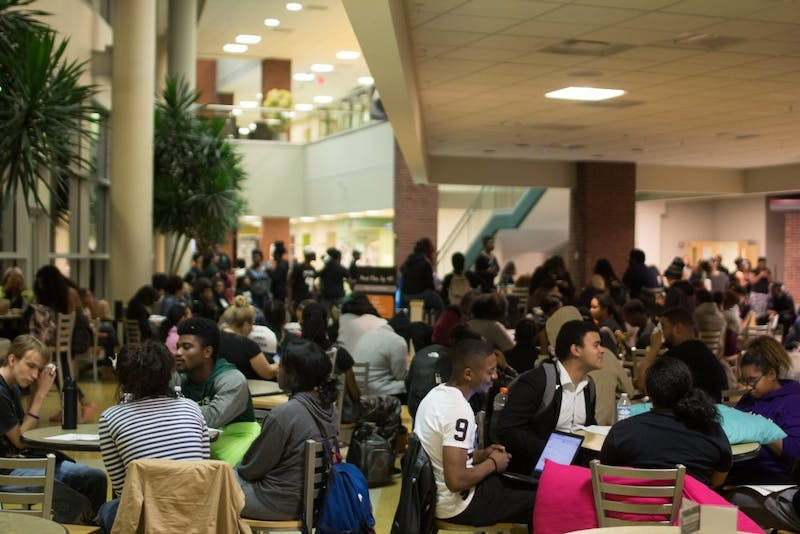students in student center
