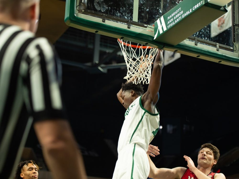 Boubacar Toure dunks versus Miami (OH) at the Convocation Center.