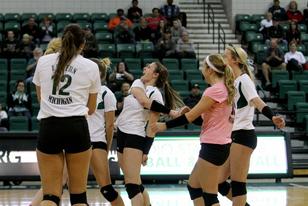EMU volleyball drops must-win match against Ball State