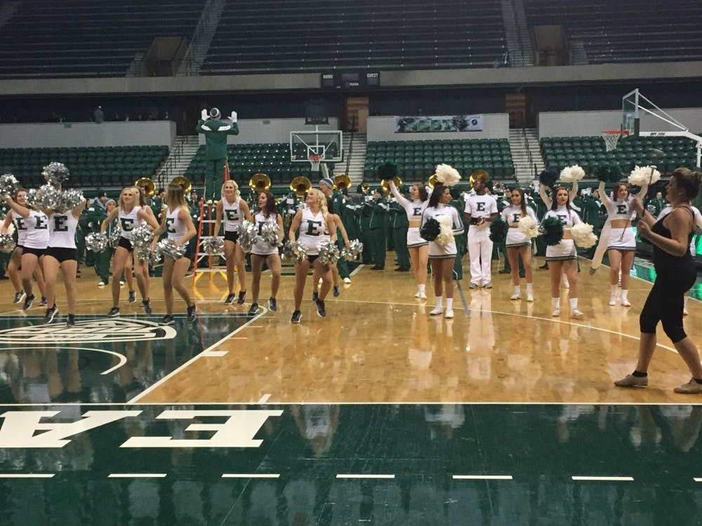 The Eastern Michigan University football team held a pep rally to kick off the latest home game.