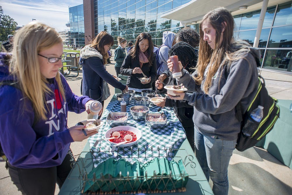 Ice cream social brings students together