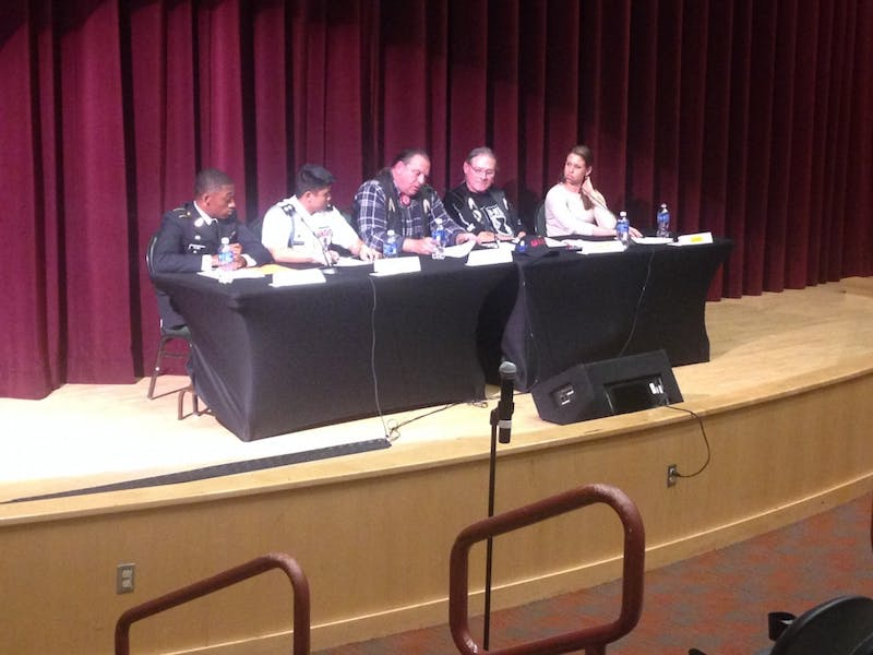 The paneled discussion focused on the experience of being a minority in the military.