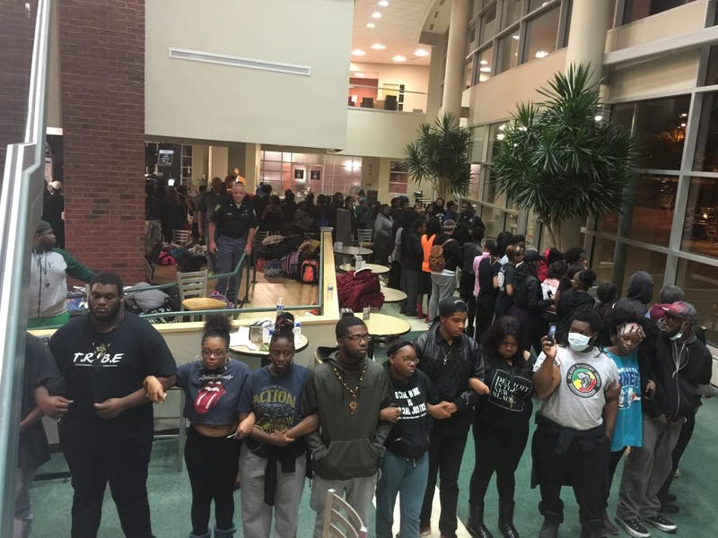 (1)EMU students occupy Student Center