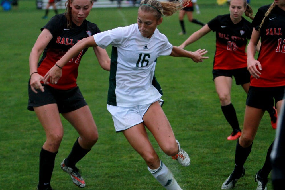 Eagles women's soccer team falls to Ball State on the road