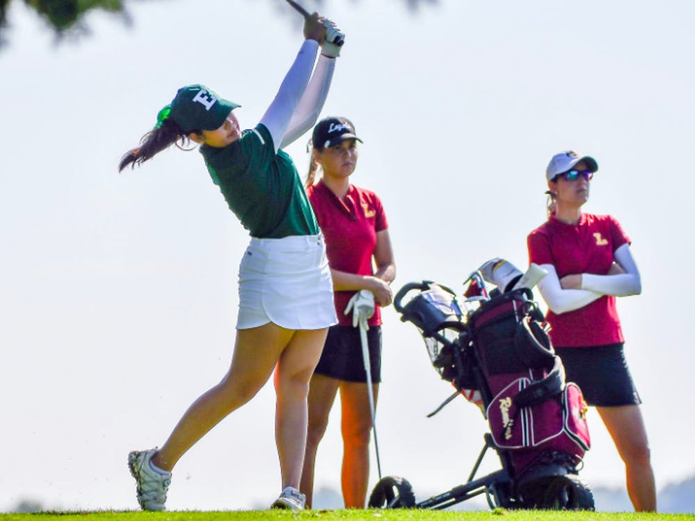 Preaw Sripatrprasite swings at the Falcon Invitational in Bowling Green on April 6. @EMUWomensGolf