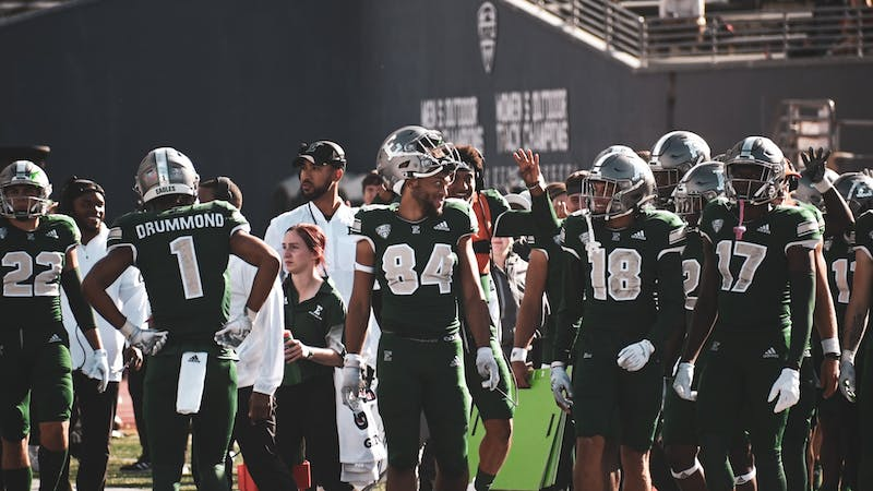 Breaking team records, the Eastern Michigan Eagles defeated the Texas State Bobcats at Rynearson Stadium on Saturday, Sept. 25.