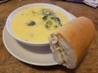 Cheddar broccoli soup.