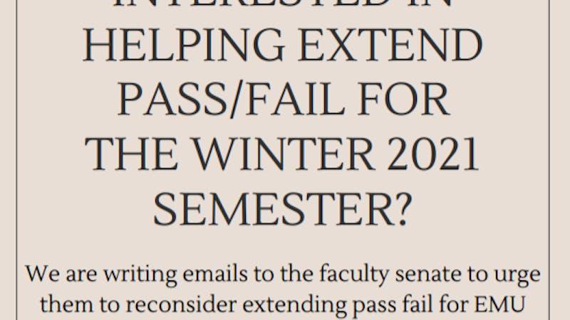 Pass/fail petition flyer (courtesy of Eva Long).