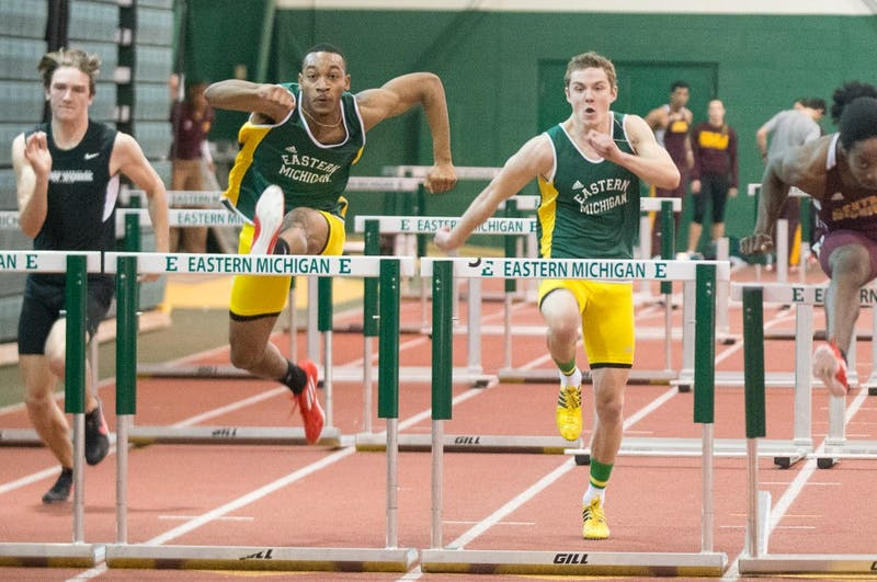 EMU competes in track event on April 9 in Ypsilanti.