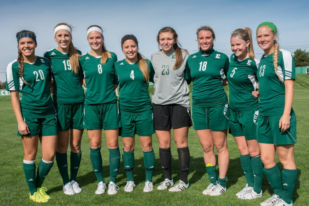 The seniors of Eastern Michigan soccer say goodbye