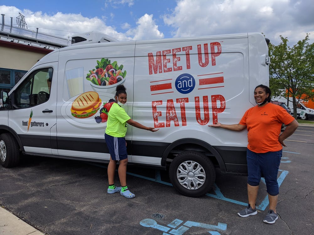 """The Summer Food Service Program, or """"Meet Up and Eat Up,"""" provides children around the country with free meals during the summer months. (Photo courtesy of Food Gatherers)"""