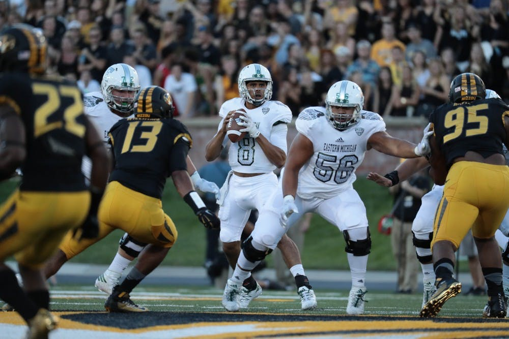 Emu football falls to Mizzou, 61-21