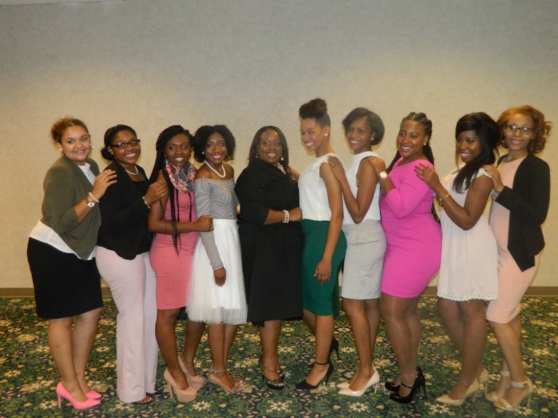 Tuesday, Oct. 12 Alpha Kappa Alpha sorority incorporated, held an etiquette class in McKenny Hall.