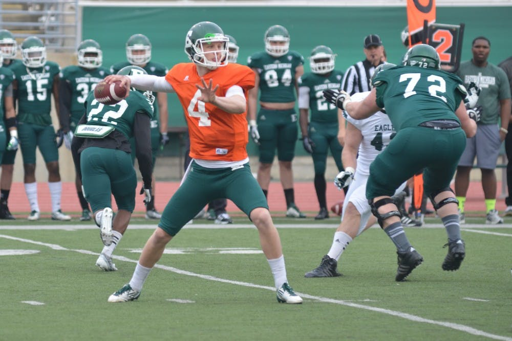 Creighton uses EMU football spring game as a teaching tool