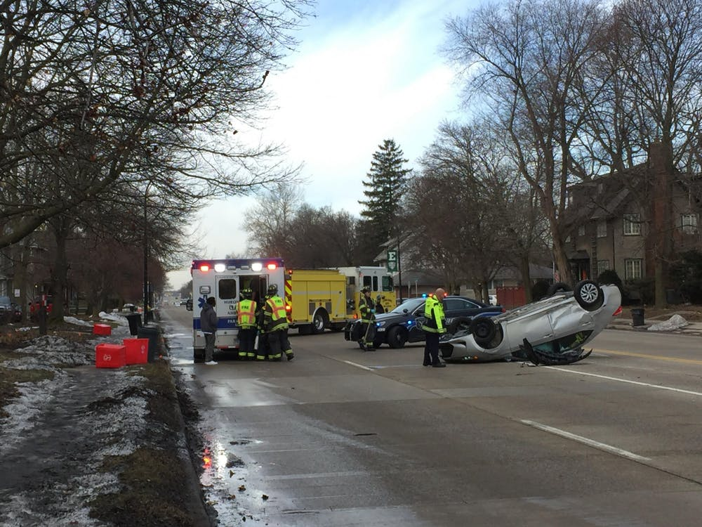 A car accident occured on the intersection of Washtenaw Ave. and Oakwood St. around 11a.m the morning of Monday, February 3, 2020. The car was flipped upside down, however, the driver was reported as being in stable condition. The Ann Arbor Transit Authority/The Ride bus route four was temporarily skipping the stop before Washtenaw Ave. and Oakwood St. Students going to Eastern Michigan University could still get off by the Oakwood St. and Summit St. stops.
