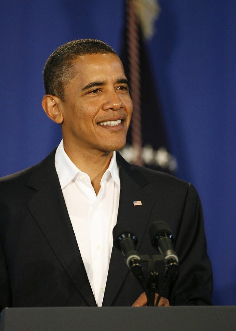 President Barack Obama holds a press conference in Oak Bluff, Massachusetts, announcing the reappointment of Federal Reserve Chairman Ben Bernanke to a second term, Tuesday, August 25, 2009.