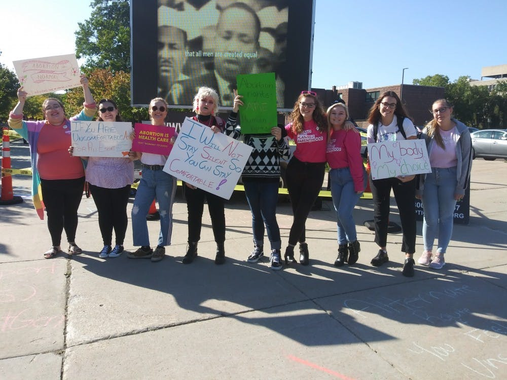 Planned Parenthood Next Generation did a peaceful protest on campus Oct. 9.
