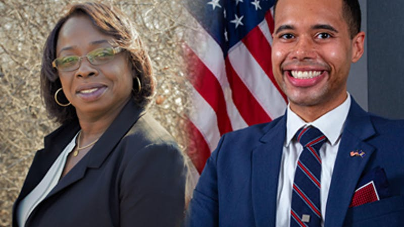 Denise Kirchoff and Justin Hodge for County Commissioner Headshots