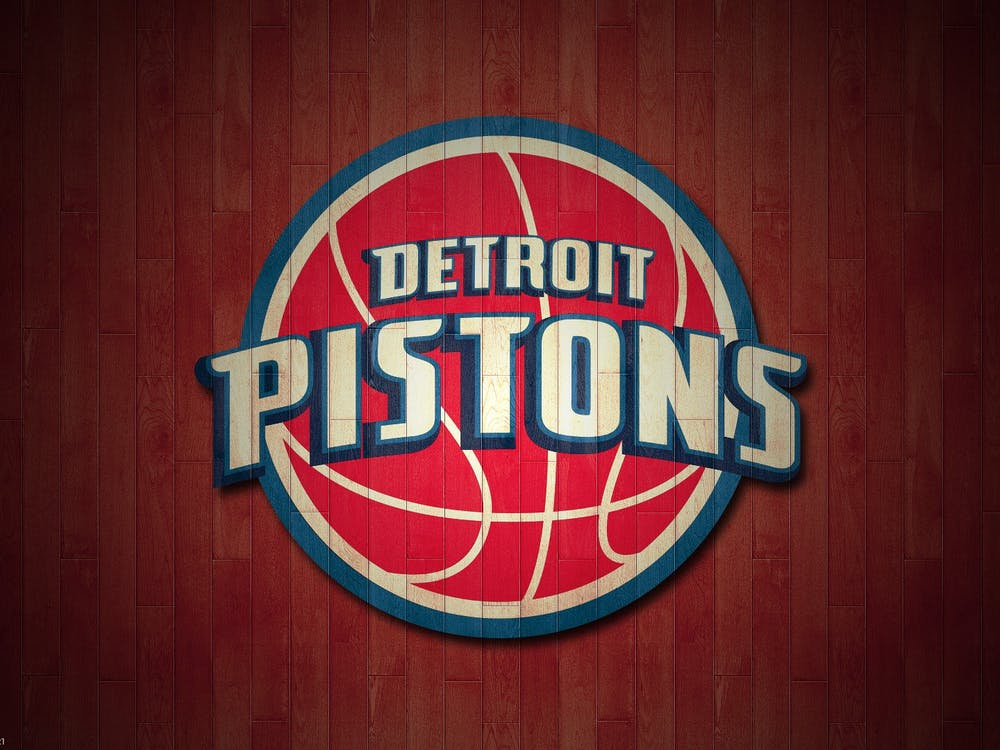 Detroit Pistons Logo, circa 2013.  Photo by Michael Tipton on Flickr.