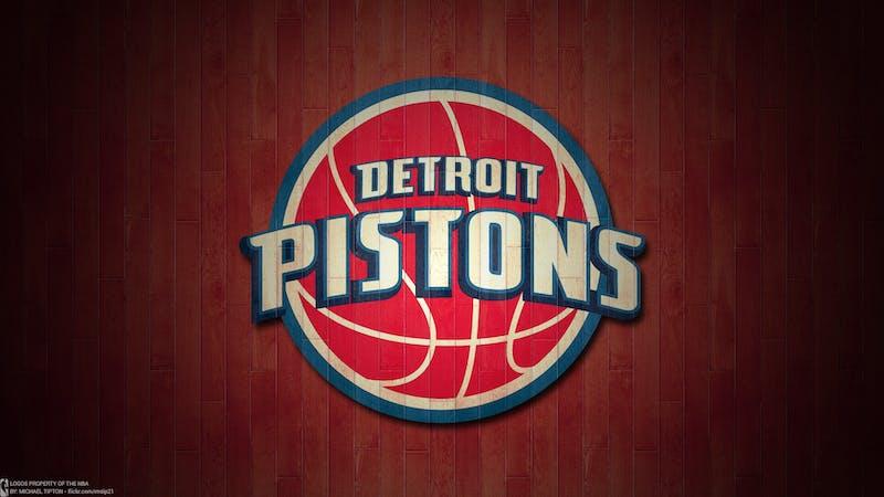 Detroit Pistons Logo, circa 2013.  Photo by Michael Tipton on Flickr.