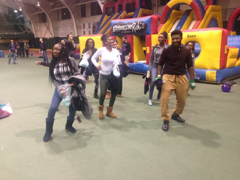 Students could take a break from studying to dance at Club Halle, Thursday night.