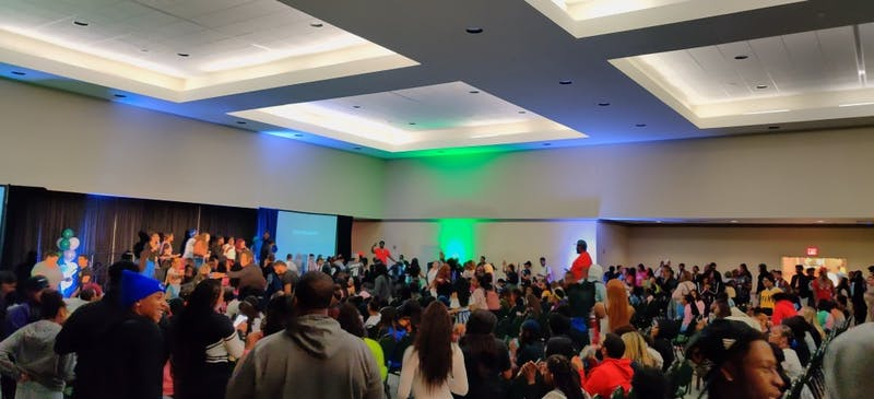 Students pack the Student Center for Trap Karaoke on Oct.9