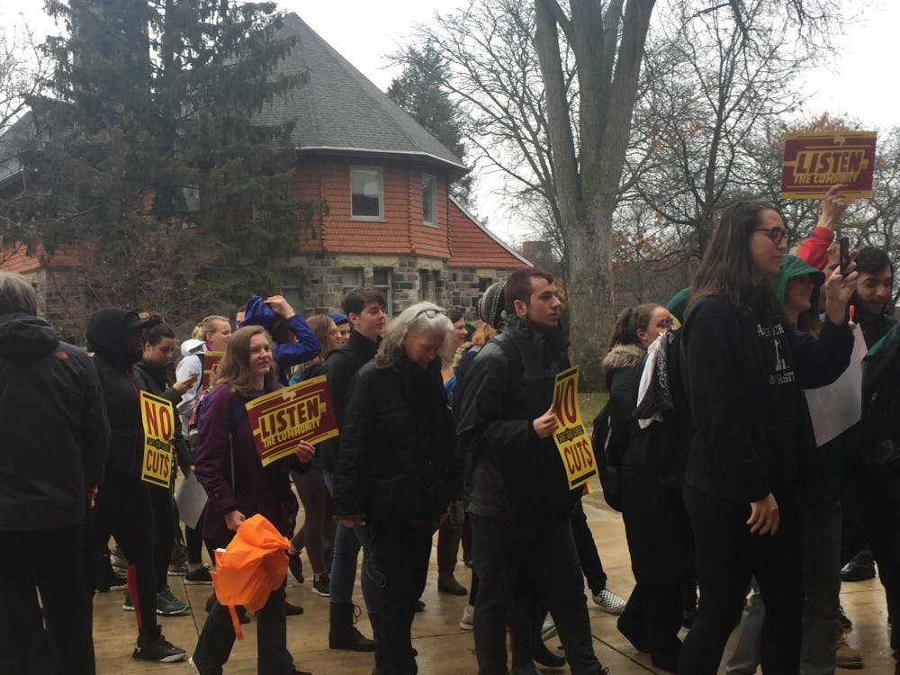 """Better University"" Coalition and students deliver demands to EMU president"